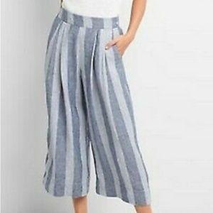 GAP High Rise Linen Crop Pants
